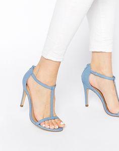 Agrandir New Look - Swarm - Sandales minimalistes à talons - Bleu