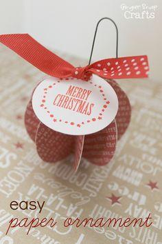 Easy Paper Ornament {tutorial}