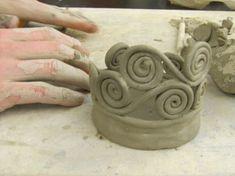 Coiling Pottery   Coil Pots in progress   ceramics