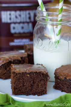 Chocolate Zucchini Sheet Cake - such a delicious and simple recipe!