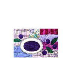 Food Art BLUEBERRIES SOUP Textile Postcard by BozenaWojtaszek