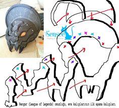 LOL Rengar Shoulder Armor Part Patterns Tutorial