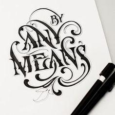 Lettering by Andreas Grey - framed inspo for home Calligraphy Letters, Typography Letters, Typography Design, Logo Design, Caligraphy, Penmanship, Tattoo Lettering Alphabet, Typography Sketch, Letter Tattoos