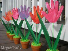 hand print flower - Great for teacher appreciation week