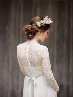 Rufina // Long sleeve lace wedding dress by Milamirabridal