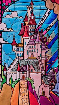 60 ideas wallpaper disney castle the beast Walt Disney, Cute Disney, Disney Magic, Disney Art, Disney Pixar, Tinkerbell Disney, Disney Villains, Disney Princesses, Disney Style