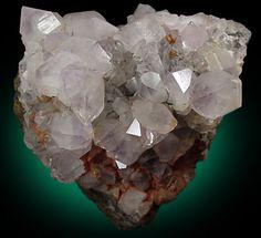 Quartz var. Amethyst on Goethite from Clifton, Fylde, England