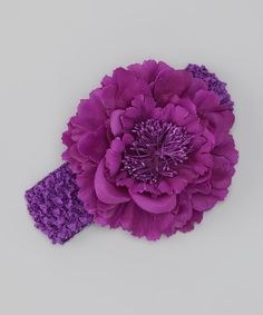 This Purple Peony Headband by Tutus by Tutu AND Lulu is perfect! #zulilyfinds