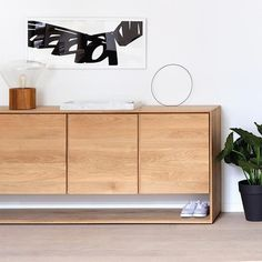 Ethnicraft Oak Nordic Sideboard with 3 doors