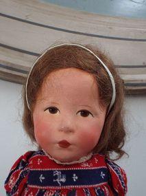 "Käthe Kruse Hamplechen/ Glückskind late 1930s-1940s. 19"" - Jonathan Green and Company #dollshopsunited"