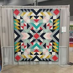 #quiltcon on Tagboard; This one is called Mercury. It's a rectangular quilt made by Jodi Weir and quilted by Catherine Hanna. #QuiltCon