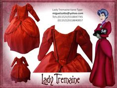 Lady Tremain mother in law of  Cinderella 2015 ella princess costume dress disguise dressup cosplay ball gown cupcake cheap national glitz pageant contest themed performer party play sweet 16 red with black dress bat mitzvah presentation 3 year prom quince quinceanera for girl or adult  Señora Tremain madrastra de Cenicienta 2015 princesa ella traje vestido disfraz disney la princesa presentacion de 3 años boda paje graduacion kinder