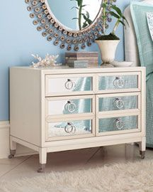 Mirrored Chest Of Drawers. Love That Only The Drawer Fronts Are Mirrored    Less Fingerprints