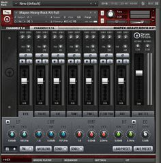 The Kontakt instrument Mixer page for the Mapex Heavy Rock kit