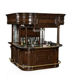 """Maybe the ultimate home bar. """"Oak Home Bar"""" from Jonathan Charles"""