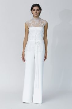 Top Wedding Dress Trends for 2014 Trousers - Rivini Fall 2014 Collection http://chicvintagebrides.com/index.php/wedding-dresses/top-10-wedding-dress-trends-2014/
