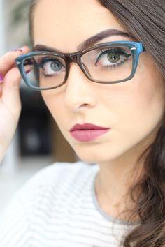 d1a69c126d0a6 Michelli Make Up  Maquiagem Básica para quem usa Óculos de Grau Estojo Para  Oculos,