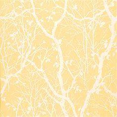 Thibaut Natural Resource, Parkland Yellow Wallpaper