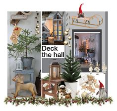 """Deck the hall"" by noconfessions ❤ liked on Polyvore featuring interior, interiors, interior design, home, home decor, interior decorating, NOVICA, TEN, Sockerbit and Nordstrom"