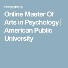 Online Master Of Arts in Psychology | American Public University
