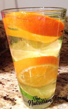Orange-Lime Sparkling Flusher | Goodbye Puffiness, Extra Weight & Bloat | Only 5 Calories | Get Your Mind & Body Back on The Healthy Track | For MORE RECIPES please SIGN UP for our FREE NEWSLETTER www.NutritionTwins.com