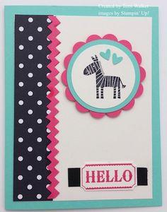 Note arrangement of elements. (zebra is a stamp)