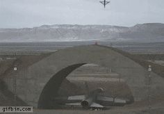 Bomb destroys plane under bunker