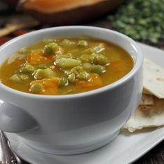 Split pea and sweet potato slow cooker soup