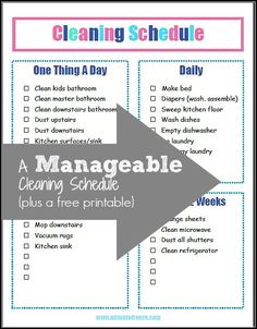 For busy moms who struggle to stay on top of house cleaning--this schedule works!