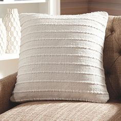 Delighting with handwoven details, this exceptionally versatile accent Salem Throw Pillow in cream is indeed a dream. The removable, zippered cover makes cleaning a breeze. Cream Pillows, White Throw Pillows, Throw Pillow Sets, Outdoor Throw Pillows, Decorative Throw Pillows, Decorative Accents, Pillow Talk, Accent Pillows, Living Room Pillows