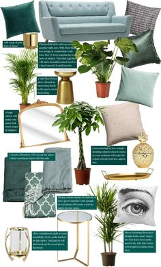 Recreate the Pin: Dark luxury & moss green interior decor. Want to create an emerald & gold home decor? Then this post is for you! From large houseplants and palms to bronze and gold mirrors, plant pots, vases, side tables and an array of affordable cushi Gold Bedroom, Bedroom Green, Emerald Bedroom, Living Room Green, Living Room Decor, Living Rooms, Chesterfield Style Sofa, Estilo Tropical, Gold Home Decor