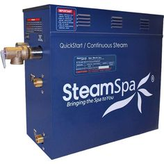 6 KW QuickStart Acu-Steam Bath Generator - SteamSpa perfect steam sauna experience is exactly what we had in mind with SteamSpa steam generators. Easy to install and even easier to operate these steam generators produce a consistent flow of soft Steam Sauna, Steam Bath, Steam Room, Shower Installation, Steam Generator, Scented Oils, Steam Showers, Custom Shower, Oil Rubbed Bronze