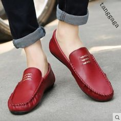 Stylish Mens Moccasin Gommino Slip On Loafers Flats Casual Driving Board Shoes