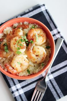 Shrimp and grits get a clean-eating makeover in this Paleo and gluten-free recipe that's packed with protein.