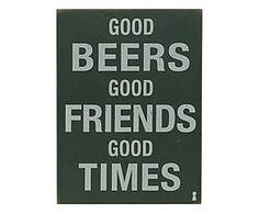 Placa decorativa - Good Beers