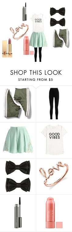 """""""Modest"""" by rebelgirl11 on Polyvore featuring Keds, Balmain, Chicwish, Tommy Hilfiger, Sydney Evan, MAC Cosmetics and Yves Saint Laurent"""