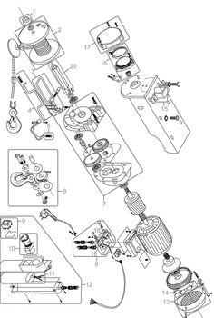 Güde Elektrischer Seilzug GSZ 300/600 Serie 50596 Ersatzteile