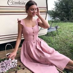 30 Cute Summer Outfits for Women and Teen Girls Casual Simple Street Styles - Lifestyle State Pretty Dresses, Beautiful Dresses, Beautiful Beautiful, Sleeveless Summer Dresses, Dresses Dresses, Summer Beach Dresses, Sunmer Dresses, Elegant Summer Outfits, Elegant Summer Dresses