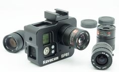 Kovacam - GoPro Hero Black modification cage kit set 4 C mount lenses Drones, Gopro Drone, Gopro Camera, Camera Phone, Camera Gear, Movie Camera, Leica Camera, Nikon Dslr, Gopro Kamera