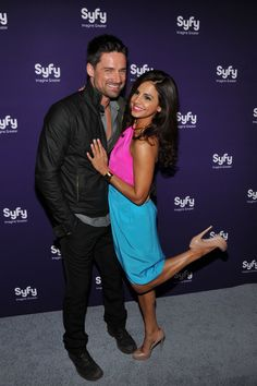 Alphas stars Warren Christie and Azita Ghanizada at the Syfy Upfront party. Warren Christie, Hot Actors, Kazakhstan, Central Asia, Guys And Girls, Movie Tv, Hot Guys, Tv Shows, Geek