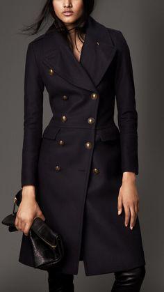 Abrigo militar ajustado en mezcla de lana | Burberry