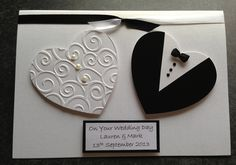 Handmade Wedding Card - Personalised