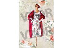 Rice Paper, A4, Decoupage, Kimono Top, Women, Fashion, Moda, Fashion Styles, Fashion Illustrations