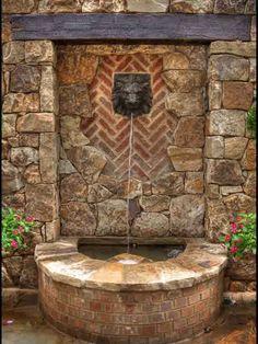 wall stone cool backyard fountains : Great Addition Cool Backyard ...