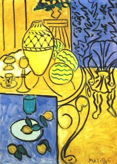 """Henri Matisse - Interno in giallo """