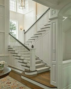 Wainscoting on the stairwell.
