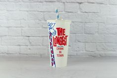 The Longest Drink In Town' Paper Milkshake Cups