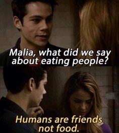 Oh, these two are going to be entertaining this season... Lol - Teen Wolf - Malia (Shelley Hennig) Stiles (Dylan O'Brien)