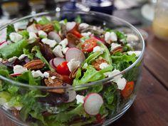 Italian Flag Salad (with goat cheese dressing) Valerie Bertinelli via Food Network