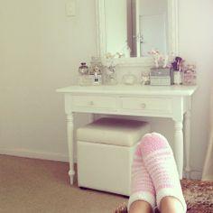 Cute dressing table.